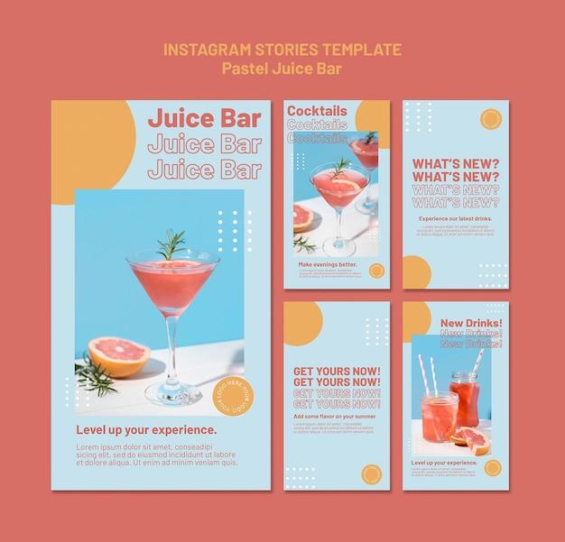 Juice bar instagram verhalen sjabloon Premium Psd