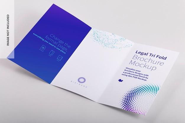 Juridische driebladige brochure mockup Premium Psd
