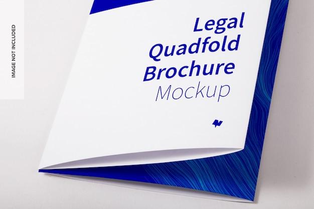 Juridische viervoudige brochure psd-mockup Premium Psd
