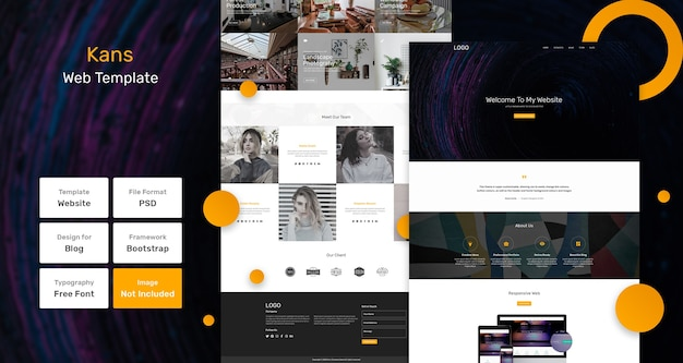 Kans portfolio webpagina-sjabloon Premium Psd