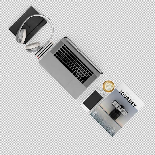 Kantoor en computer Premium Psd