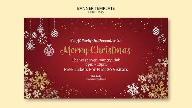 Kerst banner sjabloonontwerp Gratis Psd
