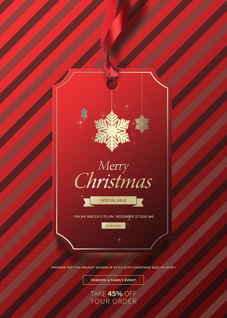 Kerst banner voor verkoop Premium Psd