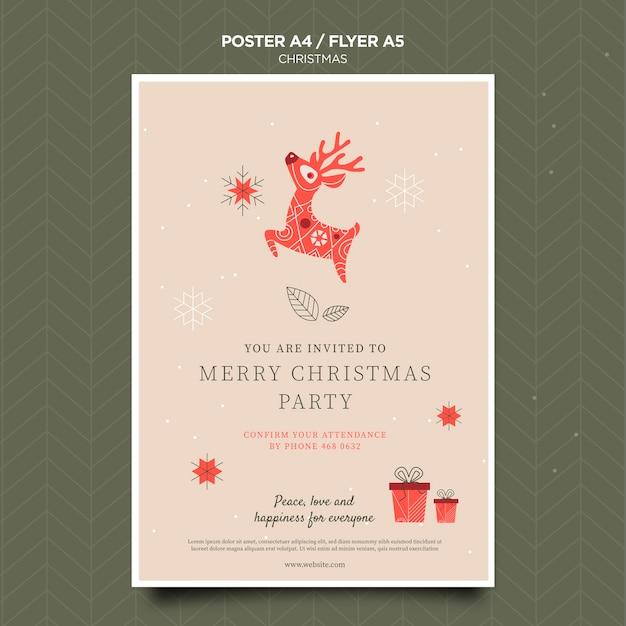Kerst concept folder sjabloon Gratis Psd