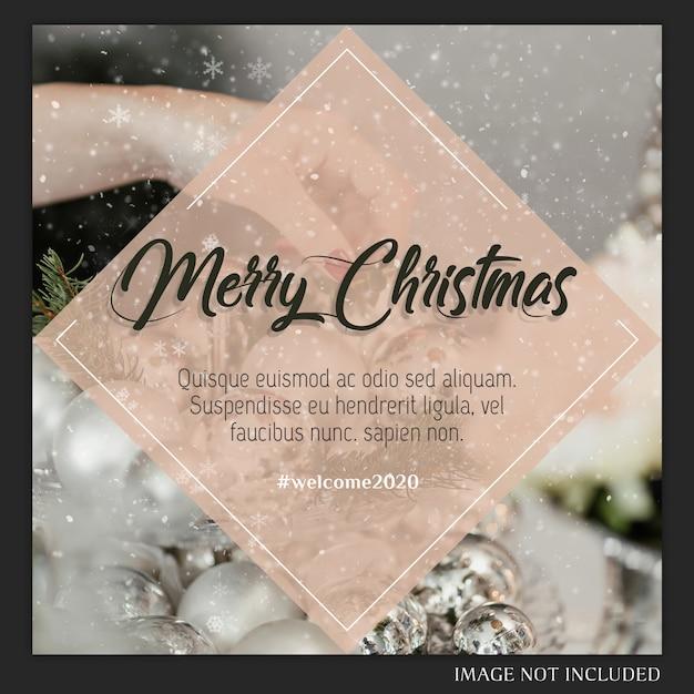Kerst instagram post card Premium Psd