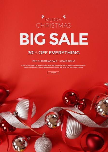 Kerst uitverkoop Premium Psd