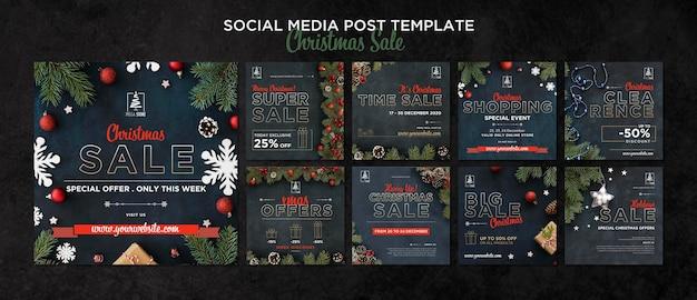 Kerst verkoop concept sjabloon Gratis Psd