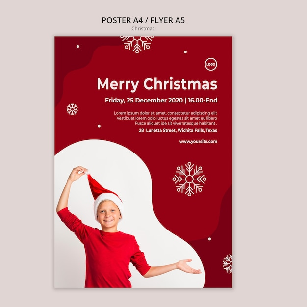 Kerst verkoop sjabloon folder Premium Psd