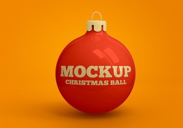 Kerstbal mockup Premium Psd