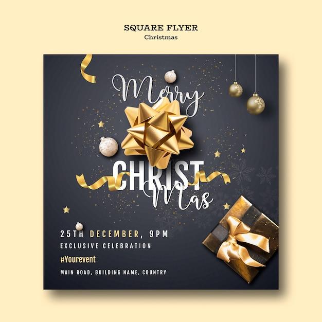 Kerstfeest folder sjabloon Gratis Psd