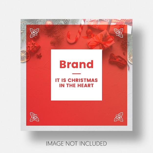 Kerstmis sociale media bericht sjabloon instagram Gratis Psd