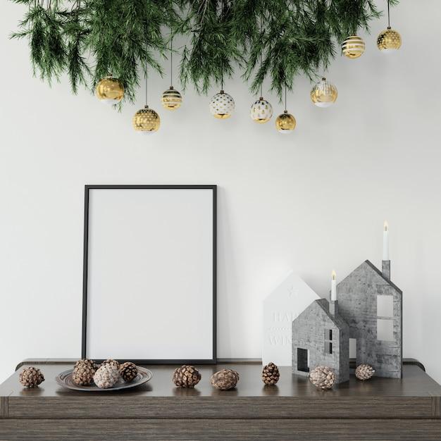 Kerstversiering op de tafel Gratis Psd