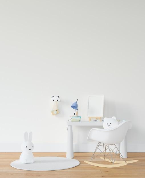 Kinderkamer met bureau en speelgoed Gratis Psd