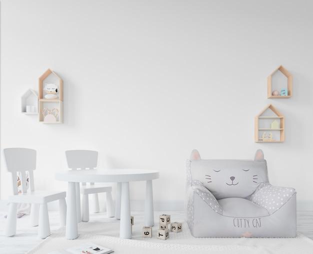 Kinderkamer met speelgoed en planken Gratis Psd