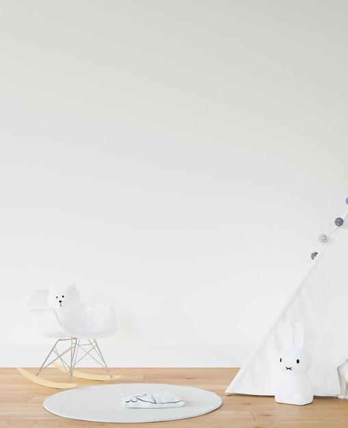 Kinderkamer met wit tipi Gratis Psd