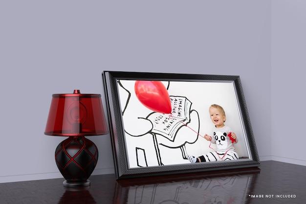 Kinderposter met mockup-ontwerp met fotolijst Premium Psd
