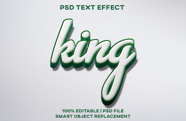King text effect Premium Psd