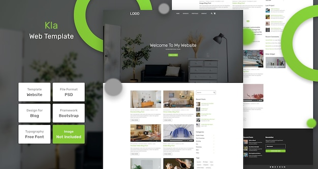 Kla webpagina sjabloon Premium Psd