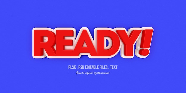 Klaar 3d tekststijleffect mockup Premium Psd