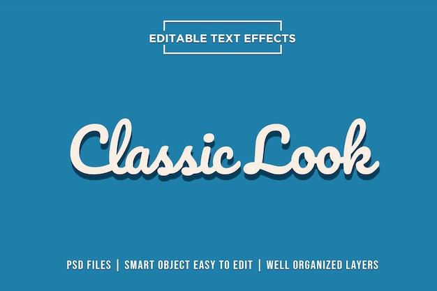 Klassieke teksteffecten Premium Psd