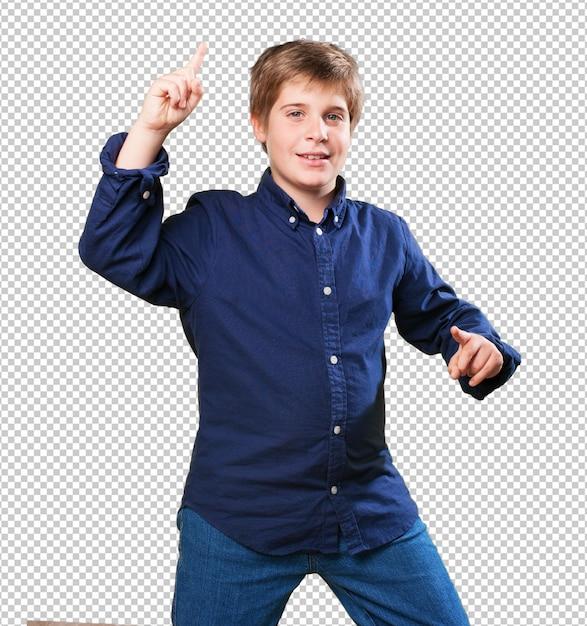 Kleine jongen dansen Premium Psd