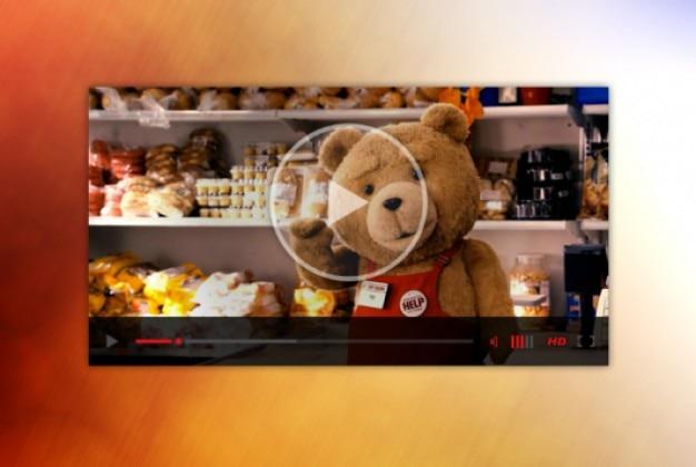 Kleine video player webdesign Gratis Psd