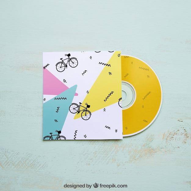 Kleurrijk cd-model Gratis Psd
