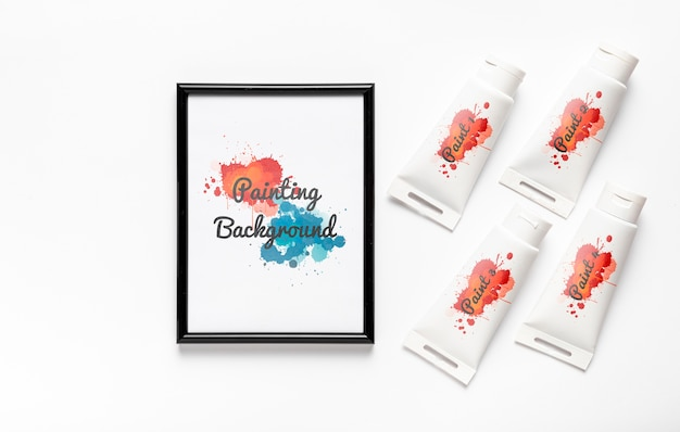 Kleurrijk het schilderen conceptenmodel Gratis Psd