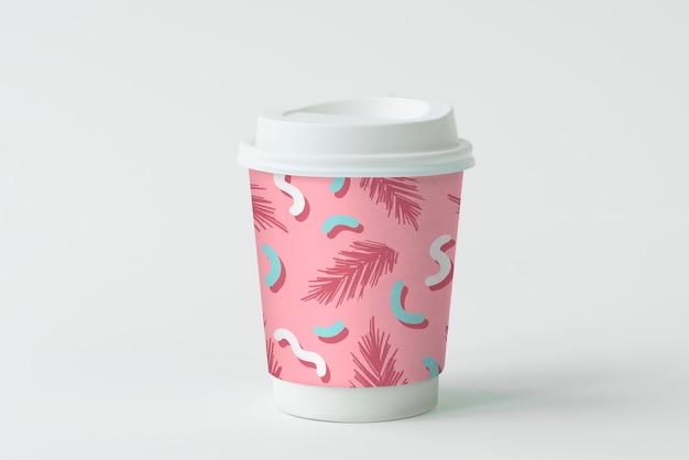 Kleurrijk meeneem koffiekopje mockup ontwerp Gratis Psd
