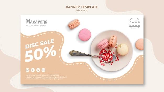 Kleurrijke franse macarons schotel te koop Gratis Psd