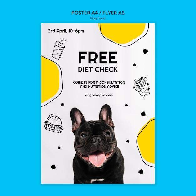 Kleurrijke hondenvoer vierkante flyer Gratis Psd