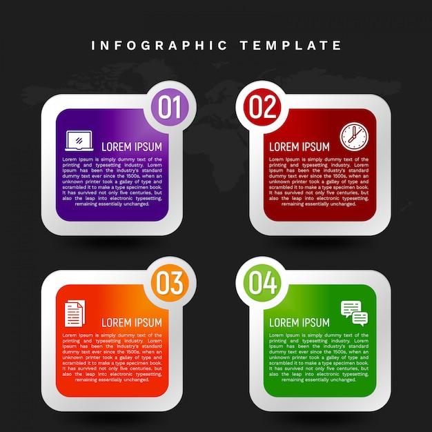 Kleurrijke infographic sjabloon in bannerstijl Premium Psd
