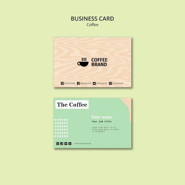 Koffie visitekaartje sjabloon Gratis Psd