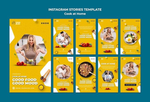Kook thuis instagramverhalen Gratis Psd