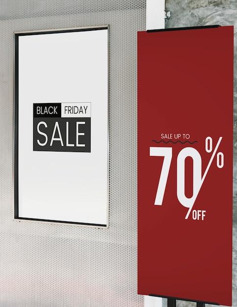 Koop tot 70% korting op poster-mockup Gratis Psd