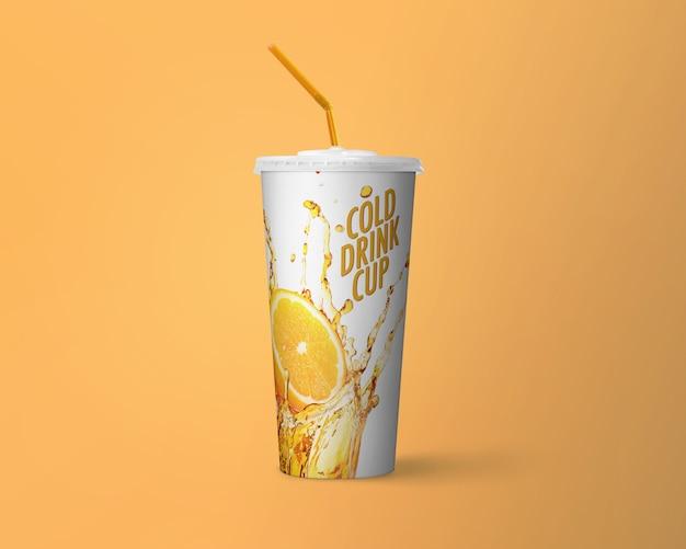 Koud drankje cup mockup Premium Psd