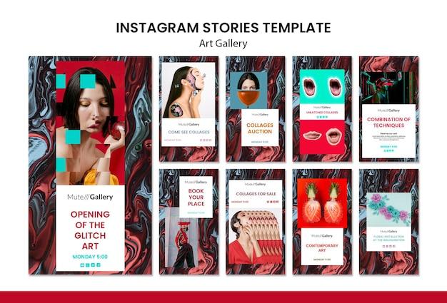 Kunstgalerie instagram verhalen sjabloon Gratis Psd