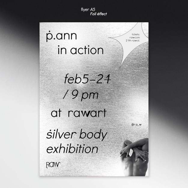Kunsttentoonstelling flyer sjabloon Gratis Psd