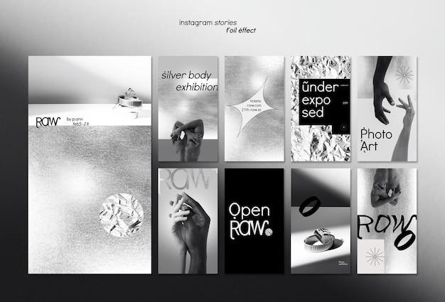 Kunsttentoonstelling social media verhalen Premium Psd