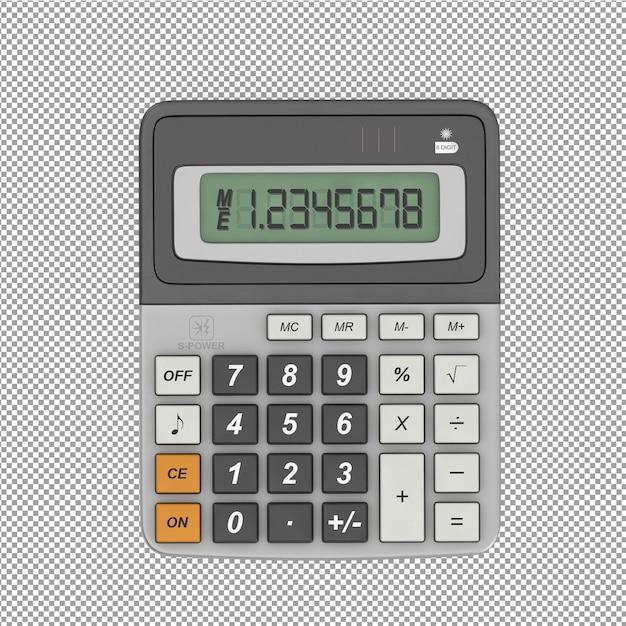 L'attrezzatura per ufficio isometrica 3d rende Psd Premium