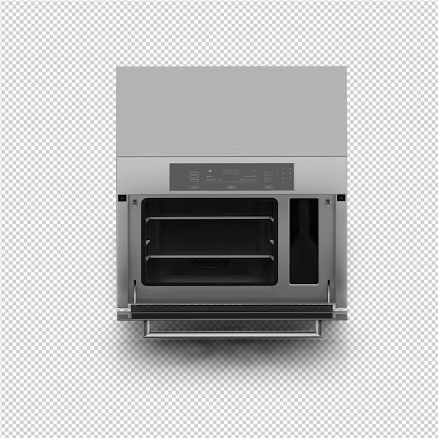 La gamma isometrica della cucina rende 3d Psd Premium