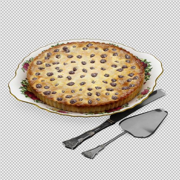 La torta 3d isolata rende Psd Premium