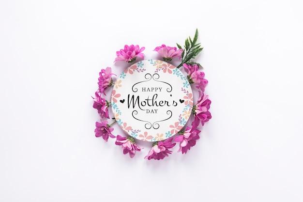 Label mockup met moederdag concept Gratis Psd
