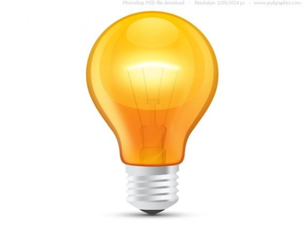 l u00e2mpada brilhante laranja  psd  download psd gratuito light bulb clipart animation light bulb clip art images