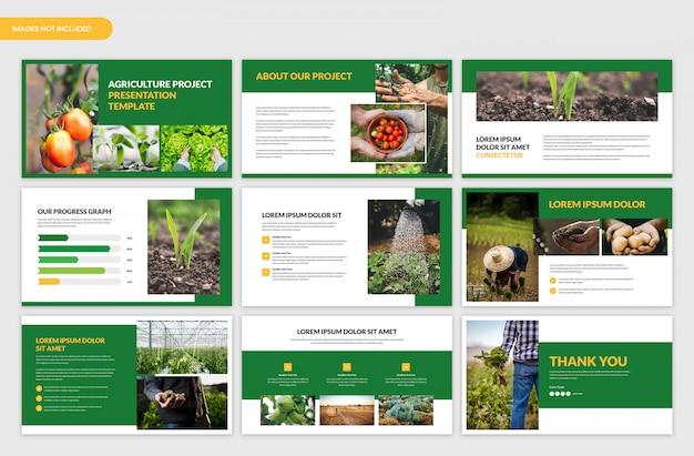 Landbouwprojectpresentatie en landbouwschuifmal Premium Psd