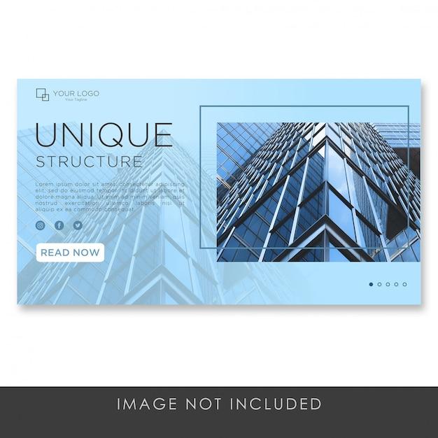 Landingspagina banner residentiële architectuur sjabloon premium Premium Psd