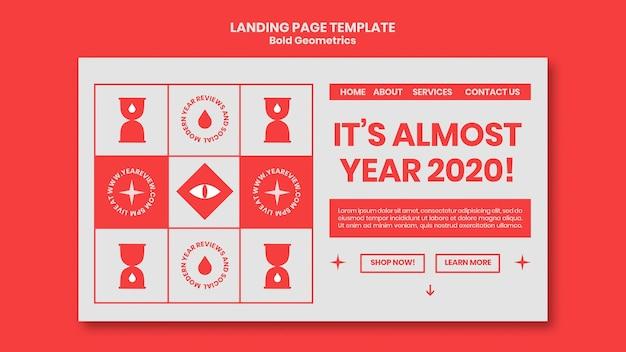 Landingspagina sjabloon voor nieuwjaarsoverzicht en trends Gratis Psd