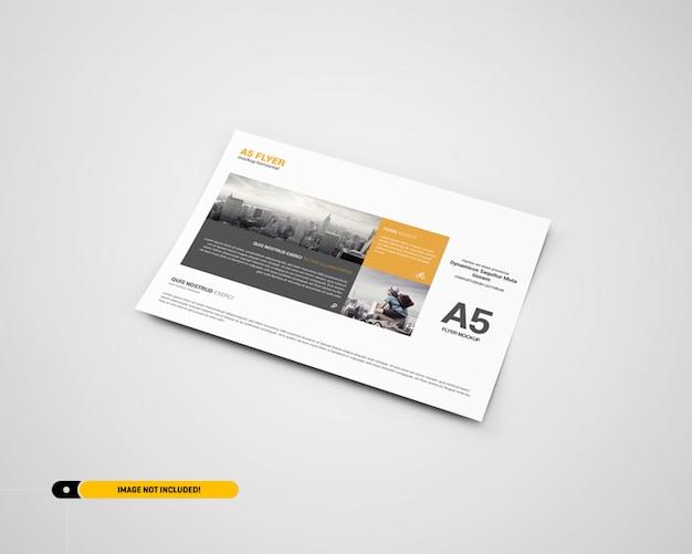 Landscape flyer mockup Premium Psd