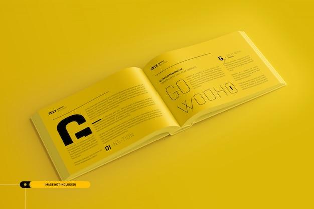 Landschap boek mockup Premium Psd