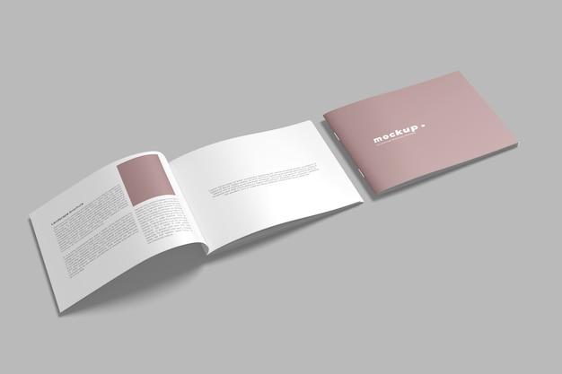 Landschap brochure mockups geïsoleerd Premium Psd